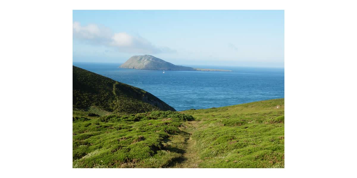 Bardsey Island from Lleyn Peninsula - Wales