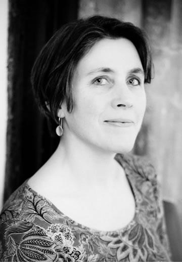 Kate Innes, Writer Black and White Portrait Photo
