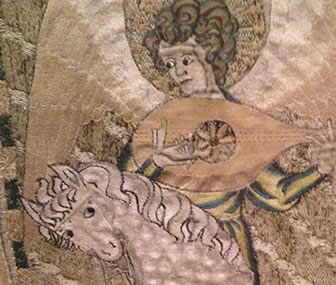 An example of fine Medieval embroidery, known as Opus Anglicanum