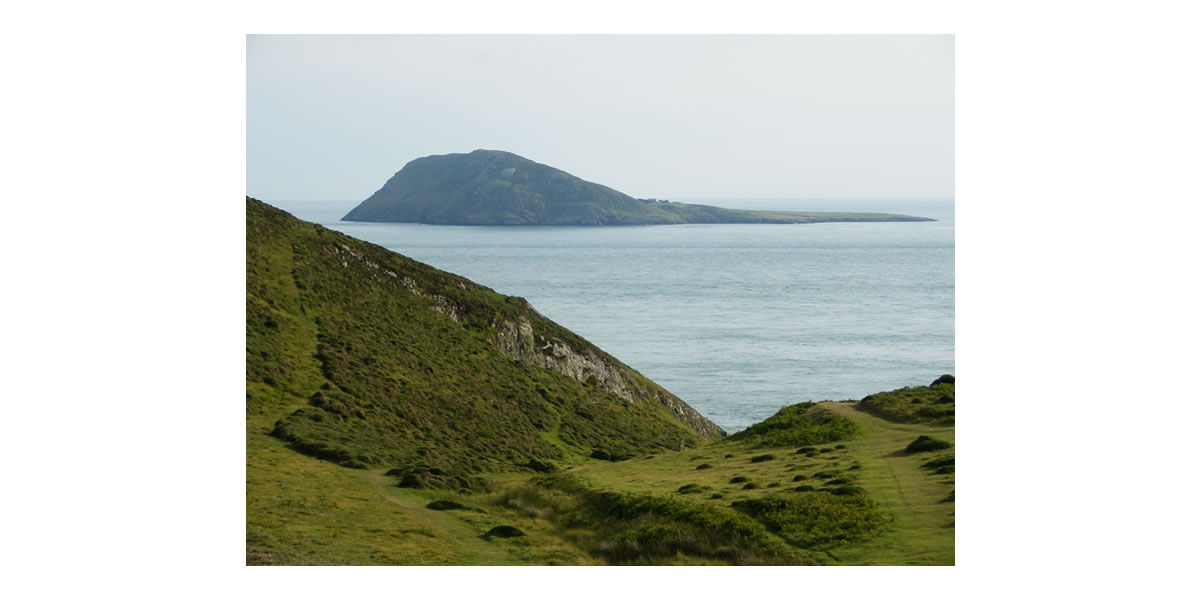 Bardsey Island from Lleyn Peninsula