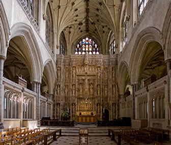 Winchester Cathedral nave and choir