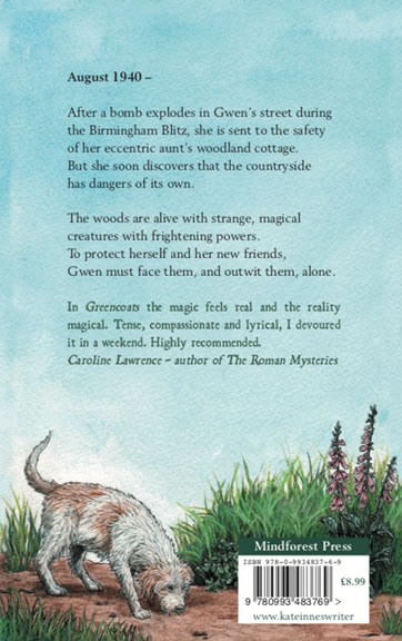 Greencoats by Kate Innes for sale back cover